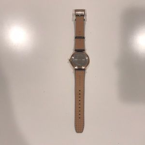 Dkny Accessories - DKNY Navy Leather and Rose Gold Watch